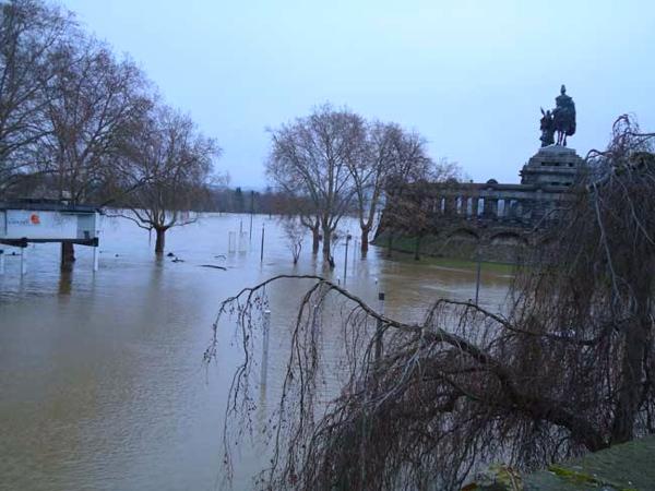 Koblenz Hochwasser 01/2011