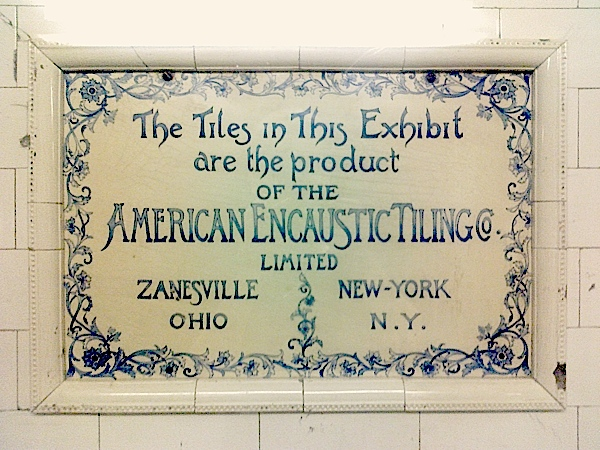 59th St / Columbus Circle 1904 tiles exposition